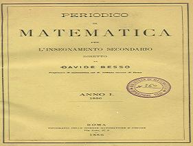 Nell'archivio storico il Periodico del 1887.