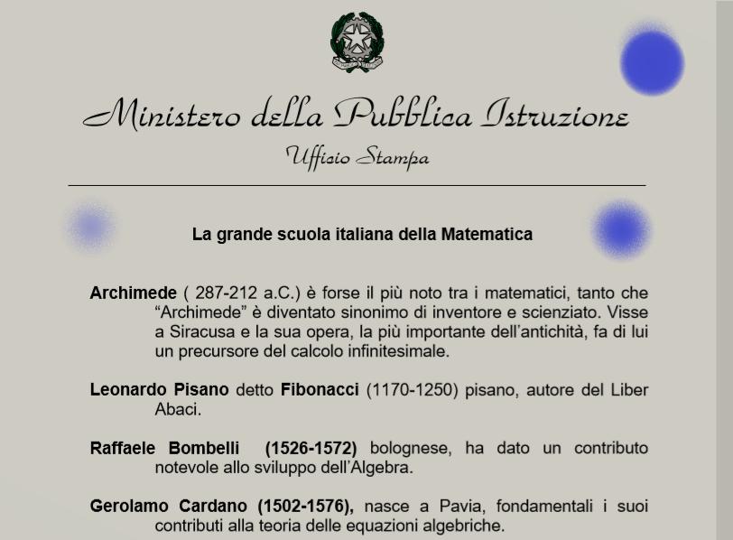 ELMI – Elenchi di link a pagine sulla Matematica in Italia