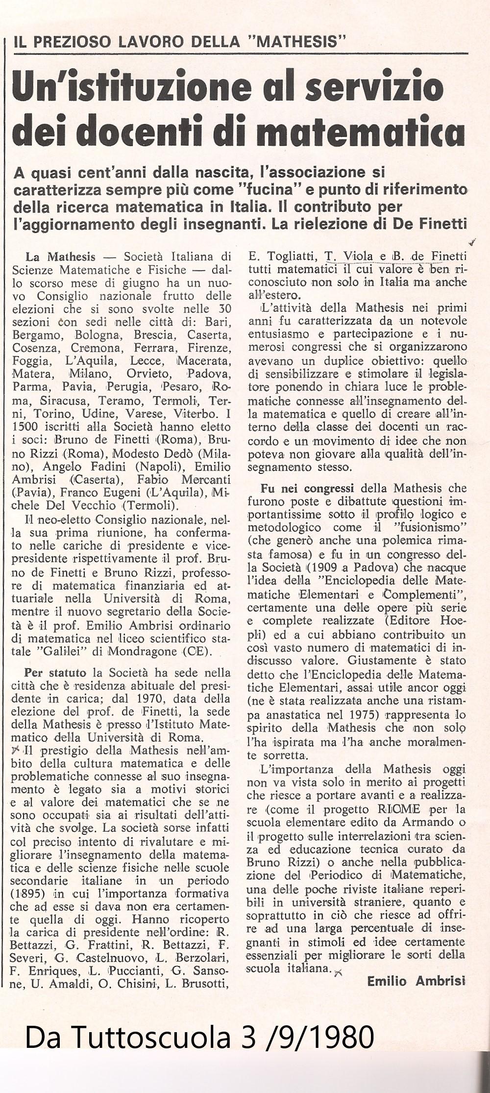 Storia della didattica della matematica in Italia
