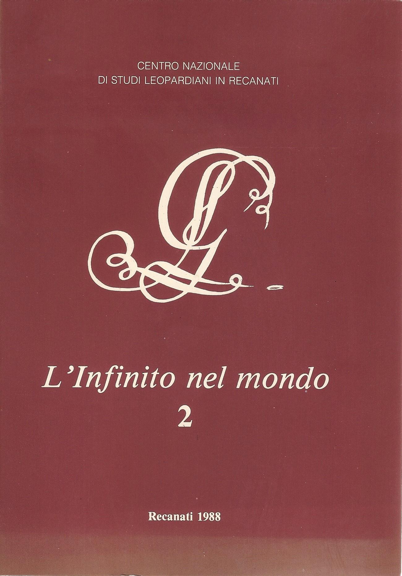 Per una rinnovata lettura dell'idillio L'infinito  del Conte Giacomo Leopardi