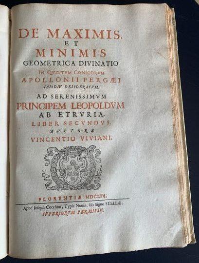 Viviani racconta la sua divinazione di Apollonio
